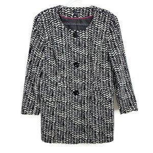 East 5th Harringbone Printed Dress Coat Jacket or Long Length Blazer Size XL